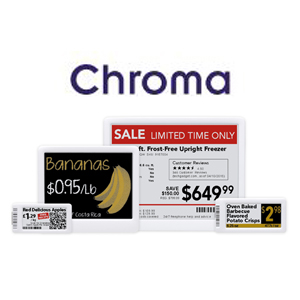 Etiqueta Electrónica Gráfica - SERIE CHROMA